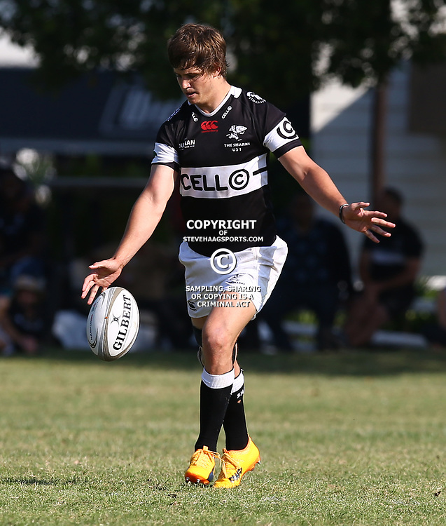 Benhard Janse van Rensburg of the Cell C Sharks Under 21's during The Cell C Shark 21's and Leopards  21's Currie Cup at Growthpoint Kings Park KP2 in Durban, South Africa. 8th September  2017 (Photo by ( Steve Haag Sports)