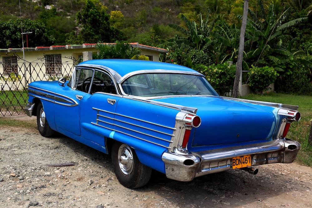 Old American car in Santa Cruz del Norte, Mayabeque Province, Cuba.