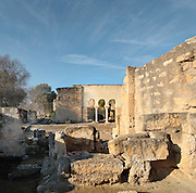 Ruins of the Palace of Madinat az-Zahra, a royal palace built 936-945 by Abd-ar-Rahman III al-Nasir, 912ñ961, Umayyad Caliph of Cordoba, outside Cordoba, Andalusia, Southern Spain. The complex was extended under Al-Hakam II, 961-976, and sacked and abandoned in 1010. Picture by Manuel Cohen