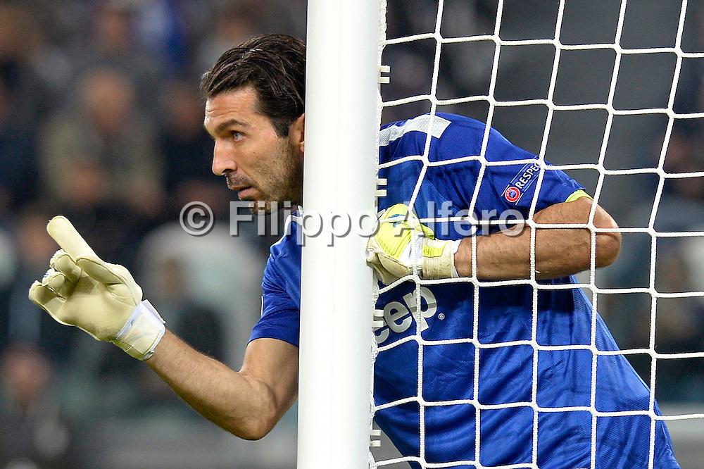 &copy; Filippo Alfero<br /> Juventus-Real Madrid, Champions League 2013-2014<br /> Torino, 05/11/2013<br /> sport calcio<br /> Nella foto: Gianluigi Buffon