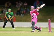 Knights Tim Seifert batting during the Burger King Super Smash Twenty20 cricket match Knights v Stags played at Bay Oval, Mount Maunganui, New Zealand on Wednesday 27 December 2017.<br /> <br /> Copyright photo: &copy; Bruce Lim / www.photosport.nz