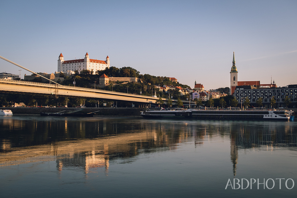 Bratislava Slovakia Danube RIver UFO St Martins Cathedral Bratislava Castle