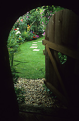 View from inside the children's playhouse. Design: Trudi Harrison