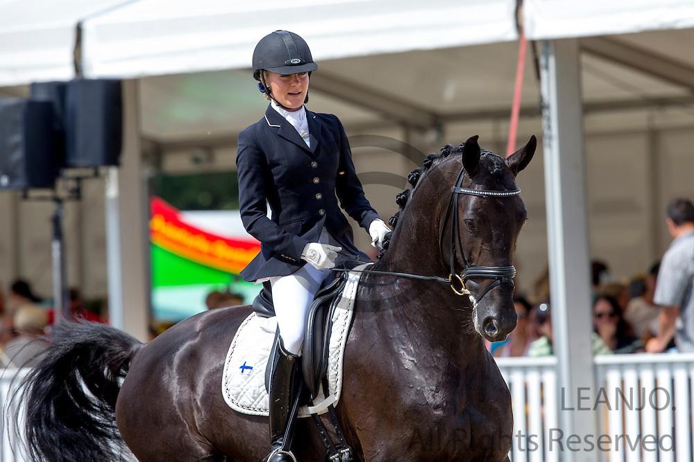 Stella Hagelstam - New Hill Rosselini<br /> FEI World Breeding Dressage Championships for Young Horses 2012<br /> © DigiShots