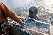 Icy boat, Ontario, Canada