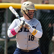 Goldey-Beacom infielder Ashley Zaccaria (18) at bat in the third inning of game #1 of NCAA Central Atlantic Collegiate Conference (doubleheader) against Post University Saturday, March 30, 2013, at Nancy Churchmann Sawin Athletic Field in Wilmington Delaware.