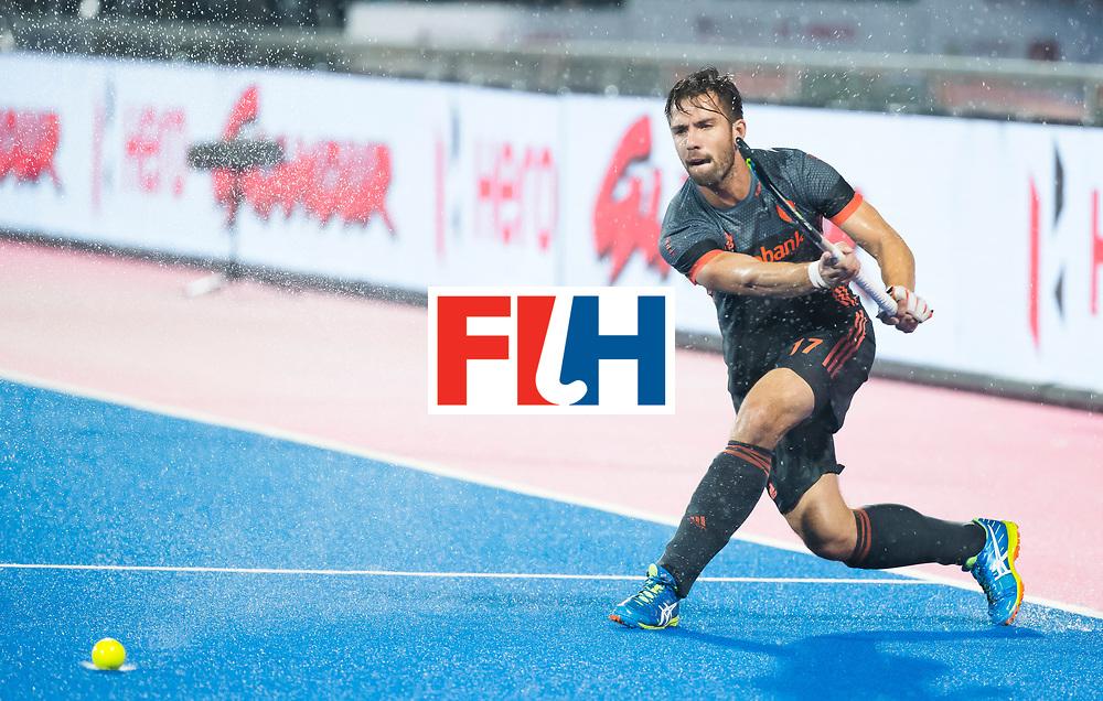 BHUBANESWAR - Martijn Havenga (Ned) tijdens de Hockey World League Finals , de wedstrijd om de 7e plaats, Engeland-Nederland (0-1).   COPYRIGHT KOEN SUYK
