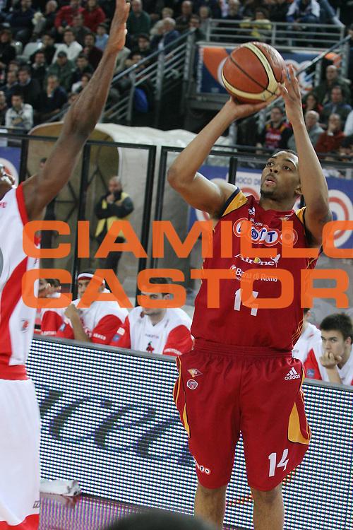 DESCRIZIONE : Roma Lega A1 2007-08 Lottomatica Virtus Roma Siviglia Wear Teramo <br /> GIOCATORE : Allan Ray <br /> SQUADRA : Lottomatica Virtus Roma <br /> EVENTO : Campionato Lega A1 2007-2008 <br /> GARA : Lottomatica Virtus Roma Siviglia Wear Teramo <br /> DATA : 13/01/2008 <br /> CATEGORIA : Tiro <br /> SPORT : Pallacanestro <br /> AUTORE : Agenzia Ciamillo-Castoria/G.Ciamillo