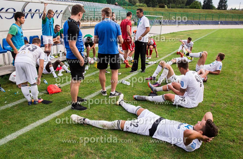 Team Krsko during football match between ND Ilirija 1911 and NK Krsko in 1st Round of Slovenian Football Cup 2017/18, on August 16, 2017 in Stadium Ilirija, Ljubljana, Slovenia. Photo by Vid Ponikvar / Sportida