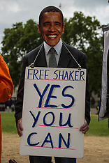 8 July 2015 - Free Shaker Aamer campaign protest in Parliament Square