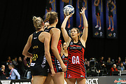 Tactix goal attack Anna Thompson lines up a shot at goal during the ANZ Premiership netball match - Magic v 170529 ANZ Premiership - Magic v Tactix played at Claudelands Arena, Hamilton, New Zealand on Monday 29 May 2017. Copyright photo: Bruce Lim / www.photosport.nz