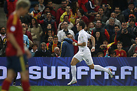 FOOTBALL - FIFA WORLD CUP 2014 - QUALIFYING - SPAIN v FRANCE - 16/10/2012 - PHOTO MANUEL BLONDEAU / AOP PRESS / DPPI -  OLIVIER GIROUD CELEBRATES AFTER SCORING THE EQUALISING GOAL