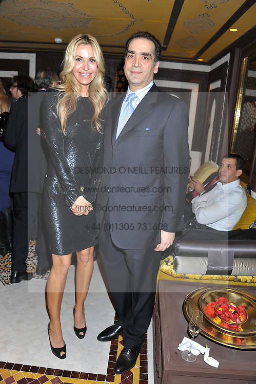 MELISSA ODABASH and REDA ESFANDIARI husband of the Moroccan Ambassador to the UK HH  Princess Lalla Joumala Alaoui at the Inspiring Morocco launch held at Harrods, Knightsbridge, London on 3rd November 2011.