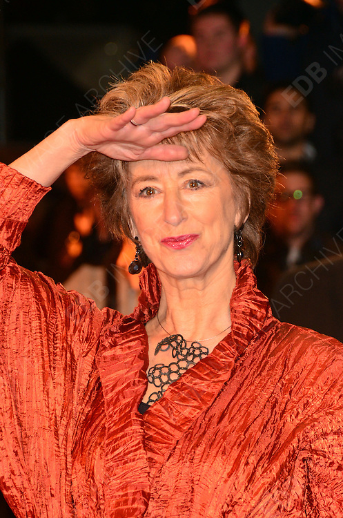 08.JANUARY.2012. LONDON<br /> <br /> MAUREEN LIPMAN ARRIVES AT THE WAR HORSE PREMIERE HELD AT THE ODEON LEICESTER SQUARE IN LONDON.<br /> <br /> BYLINE: EDBIMAGEARCHIVE.COM<br /> <br /> *THIS IMAGE IS STRICTLY FOR UK NEWSPAPERS AND MAGAZINES ONLY*<br /> *FOR WORLD WIDE SALES AND WEB USE PLEASE CONTACT EDBIMAGEARCHIVE - 0208 954 5968*