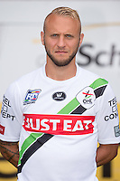 OHL's Jordan Remacle pictured during the 2015-2016 season photo shoot of Belgian first league soccer team OH Leuven, Monday 13 July 2015 in Leuven.