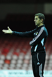 Bristol City U21's Manger Alex Russell - Photo mandatory by-line: Dougie Allward/Josephmeredith.com  - Tel: Mobile:07966 386802 04/09/2012 - SPORT - FOOTBALL - Professional Development League -  Bristol  - Ashton Gate -  Bristol City U21s v Brentford U21s