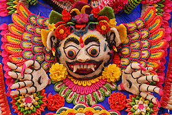 Asia, Indonesia, Bali, Demon made of rice dough at Besakih Temple