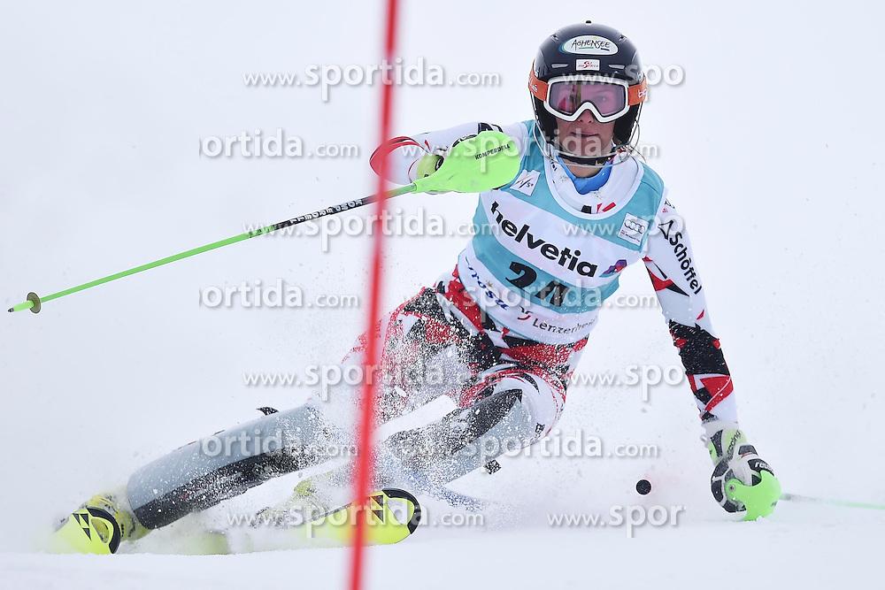 13.03.2016, Pista Silvano Beltrametti, Lenzerheide, SUI, FIS Weltcup Ski Alpin, Lenzerheide, Superkombination, Slalom, Damen, im Bild Ricarda Haaser (AUT) // during ladie's Supercombi, Slalom Race of Lenzerheide FIS Ski Alpine World Cup at the Pista Silvano Beltrametti in Lenzerheide, Switzerland on 2016/03/13. EXPA Pictures &copy; 2016, PhotoCredit: EXPA/ Freshfocus/ Manuel Lopez<br /> <br /> *****ATTENTION - for AUT, SLO, CRO, SRB, BIH, MAZ only*****