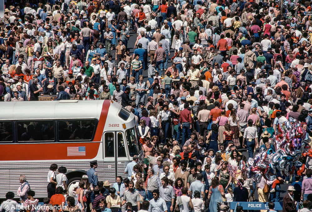Bus through Bus, 9th Ave Street Festival, New York City, New York, USA, May 1982