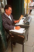 PERU, TRUJILLO Plaza de Armas, public typist