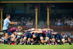 March 9, 2019 - Sydney, NSW, U.S. - SYDNEY, NSW - MARCH 09: A scrum packs at round 4 of Super Rugby between NSW Waratahs and Queensland Reds on March 09, 2019 at The Sydney Cricket Ground, NSW. (Photo by Speed Media/Icon Sportswire) (Credit Image: © Speed Media/Icon SMI via ZUMA Press)
