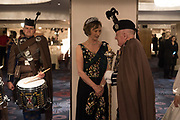 IONA DUCHESS OF ARGYLL; DAVID FOULIS; LONDON SCOTTISH REGIMENT, The Royal Caledonian Ball 2017, Grosvenor House, 29 April 2017
