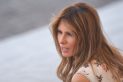 US First Lady Melania Trump attends Bastille Day Military Parade, Place de la Concorde, in Paris on July 14, 2017. Photo by Ammar Abd Rabbo/ABACAPRESS.COM
