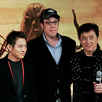 Actress Li Bingbing; actor Jet Li; director Rob Minkoff; actor Jackie Chan and actress Crystal Liu attends the press conference for 'The Forbidden Kingdom' on 17 March 2008  in Hong Kong, China. Photo by Victor Fraile / studioEAST