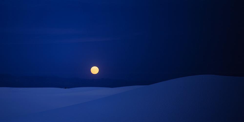 Full Moon over White Sands Dunes