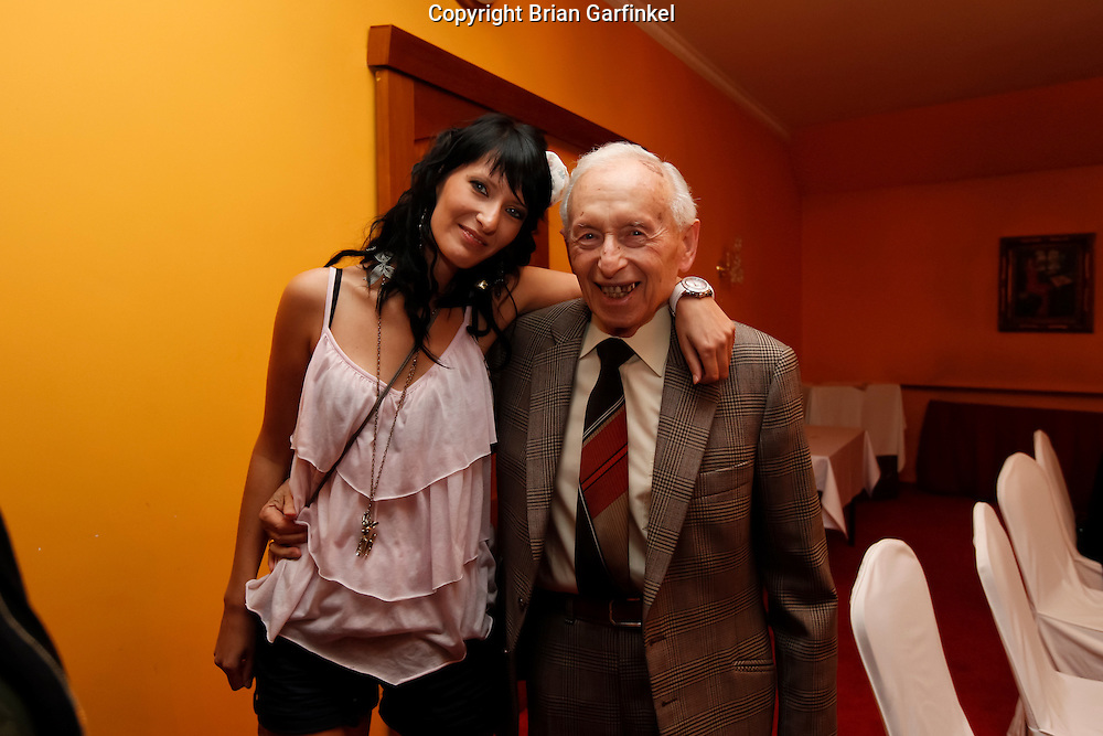 Eva and Palo after dinner in Zilina, Slovakia on Friday July 1st 2011. (Photo by Brian Garfinkel)
