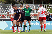 The Referee disallows a try during the Betfred Super League match between Hull Kingston Rovers and Leeds Rhinos at the Lightstream Stadium, Hull, United Kingdom on 29 April 2018. Picture by Mick Atkins.