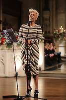 Emeli Sandé performs at the Nordoff-Robbins Carol Service 2012, St Luke's Church, Chelsea, London. Tuesday, Dec 18, 2012 (Photo/John Marshall JME)