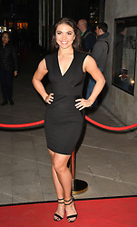 Chloe Hewitt attends the opening night of Fire in the Ballroom by dance company Burn the Floor at The Peacock in London.