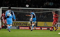 Photo: Richard Lane.<br /> Wycombe Wanderers v Swindon Town. Johnstone's Paint Trophy. 17/10/2006. <br /> Wycombe's Ian Stonebridge fires in a long range goal.