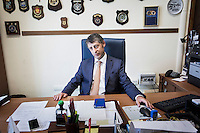 """PALERMO, ITALY - 7 JUNE 2016: Sergio Barbera, Deputy General Prosecutor of Palermo, is interviewed here in his office in the courthouse of Palermo, Italy, on June 7th 2016.<br /> <br /> Between January 2014 e December 2015 more than 120 tons of hashish, carried on fishing boats or cargo ships from Morocco to Libya, were seized in the Strait of Sicily by Italy's Guardia di Finanza (Financial Police) thanks to an international police investigation named """"Operazione Libeccio"""", carried out by the GICO (Gruppo Investigativo Criminalità Organizzata, Organised Crime Investigation Group), a unit of the tax police of Palermo under the supervision of the DDA (Direzione Distrettuale Antimafia) of Palermo.<br /> <br /> """"What is happening in Libya is same historical occurrence that happened years ago in Afghanistan. Such as the Talibans who financed their terroristic activities with heroin trafficking for the purchase of weapons, the Caliphate is proposing the same terroristic strategy by purchasing and commercialising hashish in order to purchase weapons used in their war"""" Sergio Barbera, Deputy General Prosecutor of Palermo, said."""