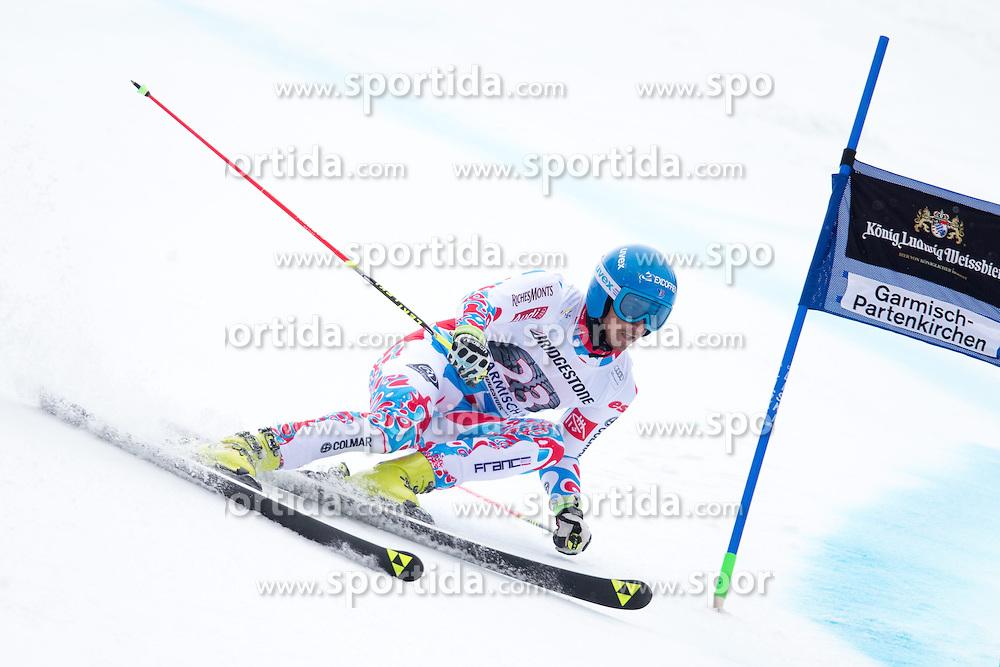 01.03.2015, Kandahar, Garmisch Partenkirchen, GER, FIS Weltcup Ski Alpin, Riesenslalom, Herren, 1. Lauf, im Bild Steve Missillier (FRA) // Steve Missillier of France in action during 1st run for the men's Giant Slalom of the FIS Ski Alpine World Cup at the Kandahar course, Garmisch Partenkirchen, Germany on 2015/03/01. EXPA Pictures © 2015, PhotoCredit: EXPA/ Johann Groder