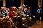 Dietzenbach   09 October 2015<br /> <br /> Am Freitag (09.10.2015) f&uuml;hrte die Partei &quot;Alternative f&uuml;r Deutschland&quot; (AfD) im B&uuml;rgerhaus in der hessischen Kleinstadt Dietzenbach eine Veranstaltung unter dem Motto &quot;Internationale Politik und Asylchaos&quot; durch, Hauptredner war Dr. Alexander Gauland.<br /> Hier: Dr. Alexander Gauland (Mitte, kariertes Sakko) inmitten hessischer AfD-Funktion&auml;re und Anh&auml;nger vor Beginn der Veranstaltung.<br /> <br /> &copy;peter-juelich.com<br /> <br /> [No Model Release   No Property Release]