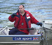 Photo. © Peter Spurrier/Intersport Images.13/03/2004  - Rowing -Cambridge Blue Boat v Leander. Leander coach Mark Banks.[Mandatory Credit Peter Spurrier/ Intersport Images] Varsity: Boat Race, Equipment [Mandatory Credit: Peter Spurrier/Intersport Images]