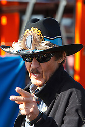 June 25, 2011; Sonoma, CA, USA;  Former NASCAR driver Richard Petty stands in the garage area before practice for the Toyota/Save Mart 350 at Infineon Raceway.