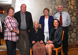 Pictured at the past pupils reunion of Rossduane N.S. Kilmeena that took place in the Clew Bay Hotel recently were Mary 'Larry' Keane now in her 95th year and her son Michael and daughter Mary (sitting) with Margaret Mary and Tommy Staunton...Pic Conor McKeown