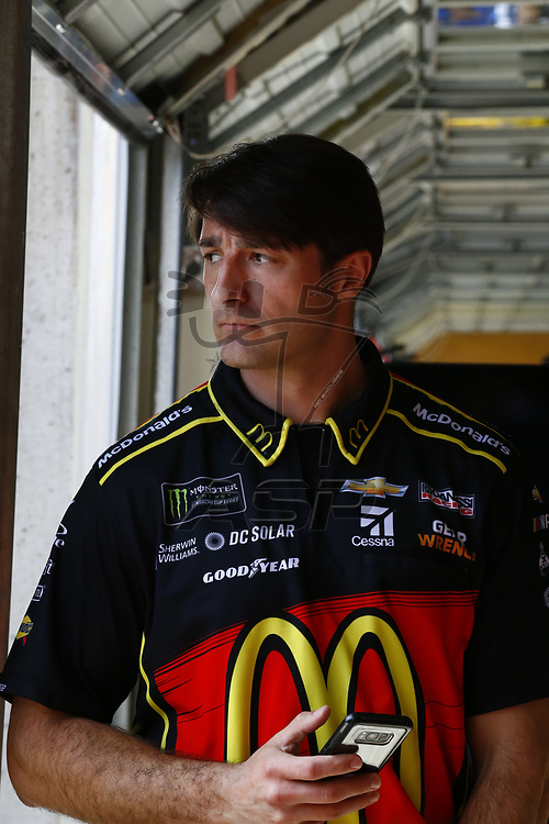 February 23, 2018 - Hampton, Georgia, USA: The crew chief for Jamie McMurray (1) hangs out in the garage during practice for the Folds of Honor QuikTrip 500 at Atlanta Motor Speedway in Hampton, Georgia.