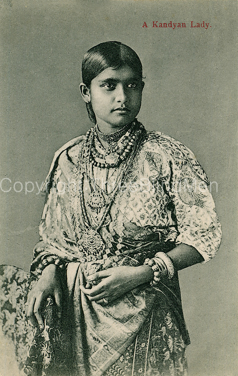 Old Postcard. A Kandyan Lady.