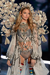 Martha Hunt on the catwalk for the Victoria's Secret Fashion Show at the Mercedes-Benz Arena in Shanghai, China