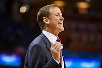 OKLAHOMA CITY, OK - APRIL 21: Head Coach Terry Stotts of the Portland Trail Blazers yells to his team during a game against the Oklahoma City Thunder during Round One Game Three of the 2019 NBA Playoffs on April 21, 2019 at Chesapeake Energy Arena in Oklahoma City, Oklahoma  NOTE TO USER: User expressly acknowledges and agrees that, by downloading and or using this photograph, User is consenting to the terms and conditions of the Getty Images License Agreement.  The Trail Blazers defeated the Thunder 111-98.  (Photo by Wesley Hitt/Getty Images) *** Local Caption *** Terry Stotts