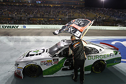 November 17, 2018 - Homestead, Florida, U.S. - Tyler Reddick (9) takes the checkered flag and wins the 2018 NASCAR Xfinity Championship following the Ford 300 at Homestead-Miami Speedway in Homestead, Florida. (Credit Image: © Justin R. Noe Asp Inc/ASP)