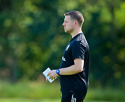 WREXHAM, WALES - Monday, July 22, 2019: Wales South head coach Ben Hammond during the Welsh Football Trust Cymru Cup 2019 at Colliers Park. (Pic by Paul Greenwood/Propaganda)