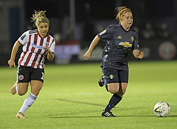 February 20, 2019 - Sheffield, United Kingdom - Martha Harris (Manchester United) sprints away from the opposition during the  FA Women's Championship football match between Sheffield United Women and Manchester United Women at the Olympic Legacy Stadium, on February 20th Sheffield, England. (Credit Image: © Action Foto Sport/NurPhoto via ZUMA Press)