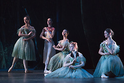 © Licensed to London News Pictures. 04/08/2015. London, UK. Dress rehearsal of La Sylphide (some parts in partial costume). Australia's Queensland Ballet makes its London Coliseum debut with La Sylphide, the August Bournonville ballet is choreographed by Peter Schaufuss. Performances at the Coliseum from 5 to 8 August 2015. Photo credit: Bettina Strenske/LNP
