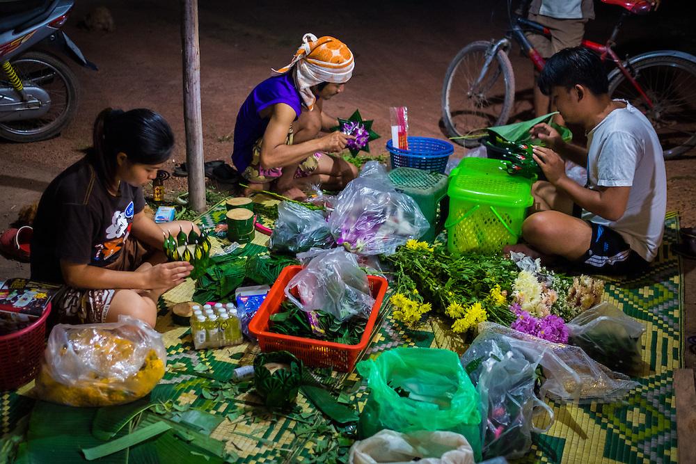 Making Krathongs, Nakhon Nayok, Thailand