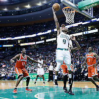 21 December 2012: Boston Celtics point guard Rajon Rondo (9) goes for the reverse layup during the Milwaukee Bucks 99-94 overtime victory over the Boston Celtics at the TD Garden, Boston, Massachusetts, USA.